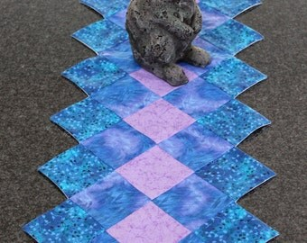 Blue and Lavender Table Runner