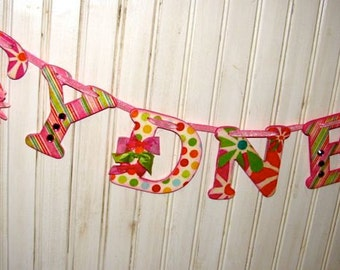 Custom Name Banner with 6 letters