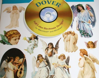 Dover Electronic Clipart book and cd rom - Full Color ANGELS