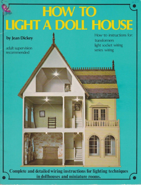 How to light a doll house 1975 miniature dollhouse for Doll house lighting