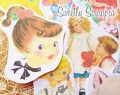 Vintage Image Die Cuts, Variety, Sweetheart, Children's Graphics, Scrapbooking, Cardmaking, Images