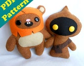PDF PATTERN BUNDLE- Star Wars Ewok & Jawa Plush Patterns (Digital Download)