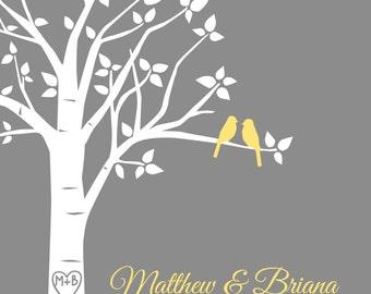 Wedding Gift Wedding Song Wedding Gift Print Wedding Song Lyric Art Wedding Song Lyrics and Custom Song Lyrics Family Tree Print 8x10 Print
