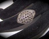 Vintage Sterling Silver Art Deco Marcasite Ring Hallmark