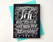 Will you be my Matron of honor? - Hand Lettered Chalkart
