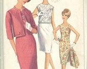 Vintage Sewing Pattern Simplicity 6402 Ladies 60s Dress,Jacket, Blouse