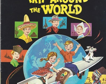 Trip Around the World Vintage Color by Number Book, C1970s