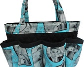 Elvis Presley 8 Pockets Bingo Bag // Craft Organizer // Makeup Organizer // Caddy // Teacher Tote // Nurse Tote