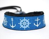Anchor Camera Strap - SLR Camera Starp - Photographer Gift - Blue Nautical
