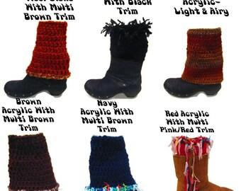 Boot Cuffs Women, 1 Pair, Handmade Boot Cuffs, Crochet Boot Cuffs, Funky Boot Cuffs, Boho Boot Cuffs, Womens Boot Cuffs,Childrens