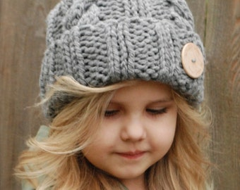 Knitting PATTERN-The Beckett Hat (Toddler, Child, Adult sizes)