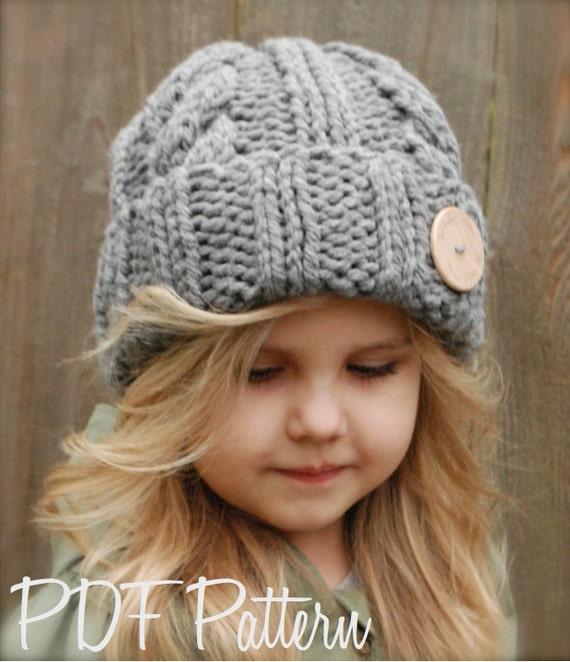 Knitting PATTERN-The Beckett Hat Toddler Child by Thevelvetacorn