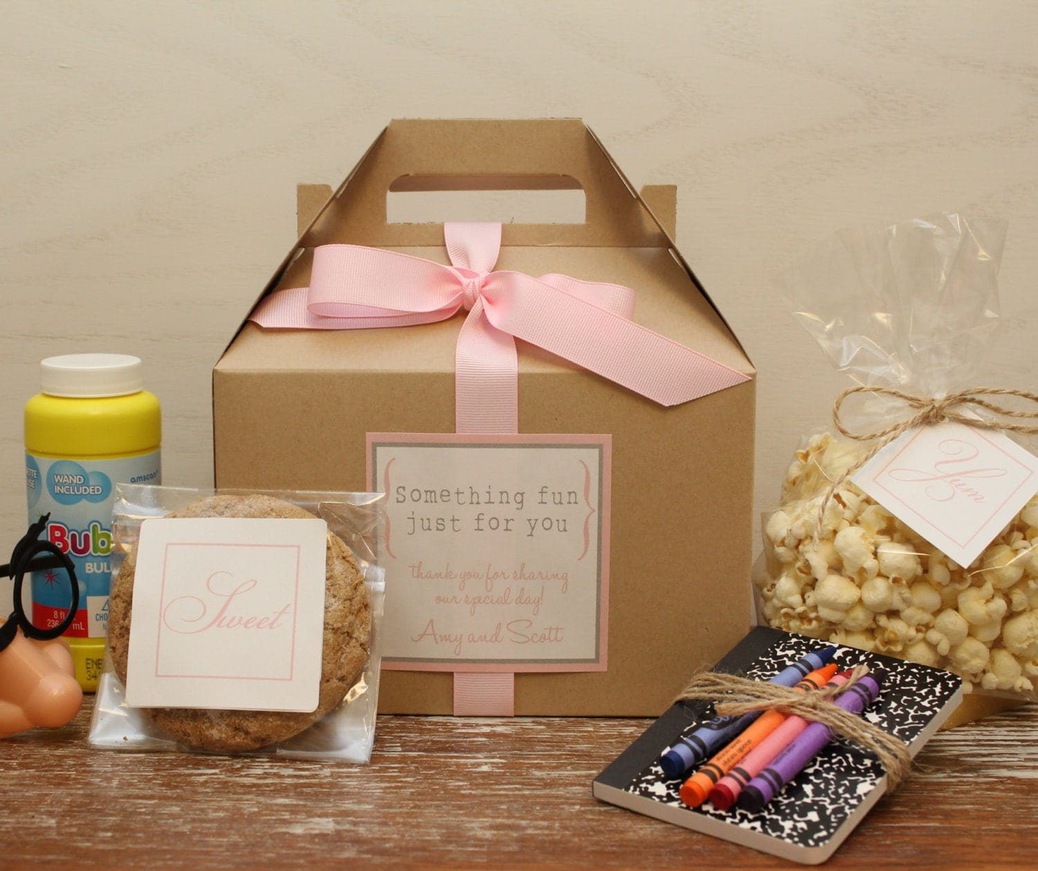 Wedding Gifts For Children: Set Of 6 Kids Wedding Boxes ANY COLOR // Kids Wedding