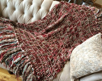 Gift for Dad Throw Blanket Gift for Grandpa or Dad Custom Gifts for Men Blanket. Red, Brown, Tan Afghan