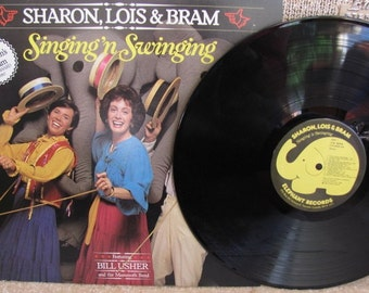 "Vintage Sharon, Lois & Bram's ""Singing 'n Swinging"" Children's Vinyl Record Album - 1980 - Canada"