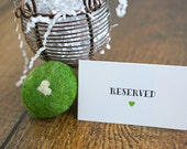 Reserved Cards, Place Cards, Reserved Seat Card, Reserved Sign, VIP Seating, Wedding Table Sign, Reserved Ceremony Seating (set of 10)