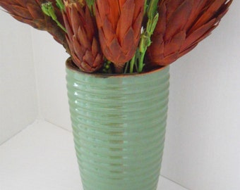 Green Glaze Clay Vase/Planter