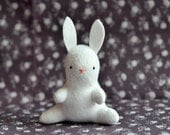 the white rabbit - bunny plush