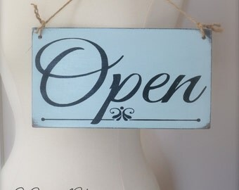 Business Sign, Custom Sign, Open/Closed Sign, Store Sign, Wall Art, Wood Sign, Vintage Sign