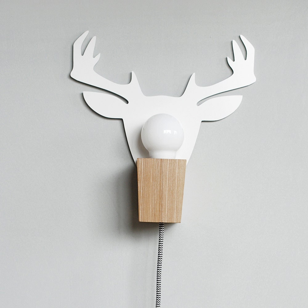 Wall Lamps Etsy : Wall Lamp Deer by MADDAlamps on Etsy
