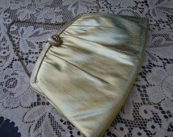 1970's Vintage Gold Purse by Harry Levine USA Jewelry Bag Disco Clutch Metallic Evening Accessories Retro Bag 130