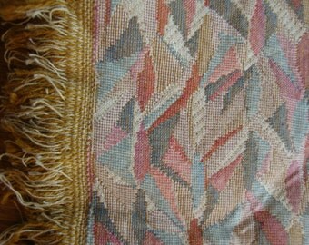 """53"""" Wide Vintage Geometric Upholstery Fabric for Chair Cushions Ottomans Benches Settee Abstract Fabric Print ST"""