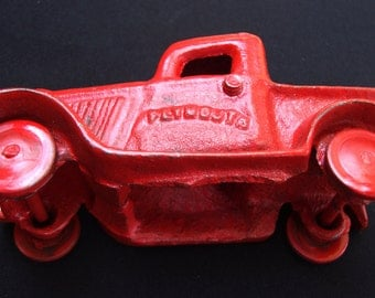 Antique Plymouth Truck Hot Rod Cast Iron Metal Gift for Him Roadster Antique Car Farm Equipment Patina 110
