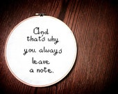 Arrested Development quote And that's why you always leave a note wall hanging