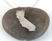 Silver California State Necklace - Silver California Necklace - Silver California Pendant - Sterling Silver