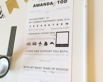 Wedding Mad Lib, Fill In The Blank Card, Printable Mad Lib, Funny Wedding Mad Lib