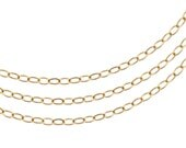 14Kt Gold Filled 2.3x3mm Flat wire Cable Chain - 5ft Strong Bright cable chain (2462-5)/1