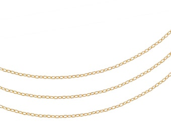 14kt Gold Filled 1.5 x 1mm Drawn Cable Chain - 5ft (2302-5)/1