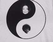 Michael Jackson Yin Yang shirt- American Apparel silver- available in s, m, l, xl, xxl- WorldWide Shipping