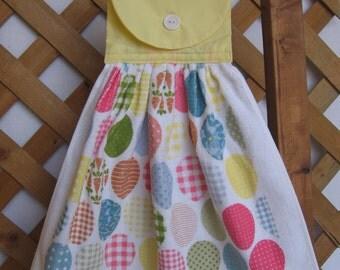Easter Egg Kitchen Towel U-Pick Top Color Easter Egg Hanging Kitchen Tea Towel SnowNoseCrafts