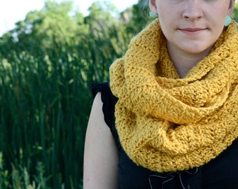 Oversized Mustard Yellow Infinity Scarf custom colors available