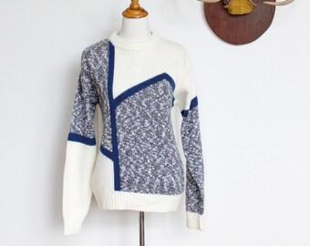 Vintage Wrangler Sweater // Slouchy Geometric Sweater // Oversized Boyfriend Sweater