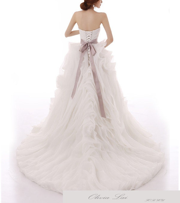 Strapless white wedding dress - Style 6