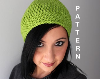 The Paris Slouchy Hat Crochet Pattern, EASY Crochet Beanie Hat Pattern - Everyday Slouchy Hat, PDF Instant Download