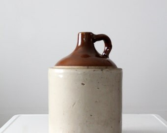antique stoneware jug, primitive farmhouse kitchen decor