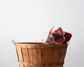 Orchard Basket, Vintage Wood Basket