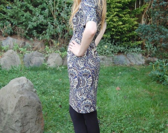 Beautiful Psychedelic  60's Dress