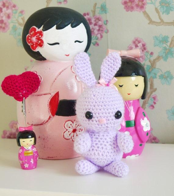 Amigurumi Cotton Yarn : Amigurumi cotton yarn Christmas Crochet Love Bunny. by ...