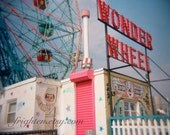 Coney Island, Photography Print, Wonder Wheel Photo, Colorful Holga Photo, Brooklyn New York