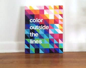Color Outside the Lines Original Acrylic Painting