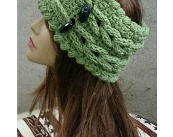 INSTANT DOWLOAD Oversize Knit Look Braids Headband Ear warmer -  Crochet Pattern