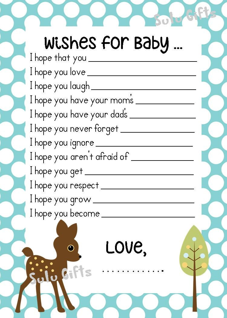 Baby Shower Budget Games ~ Sale baby boy shower game wishes for advice cards