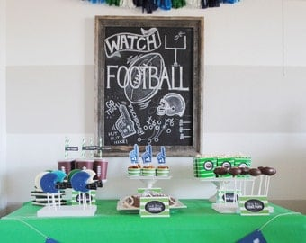INSTANT DOWNLOAD Football Party Collection - Custom PRINTABLE Party Package by ItsyBelle