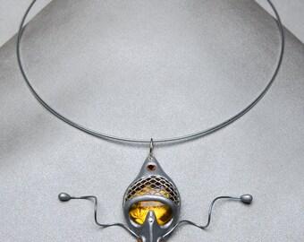 Baroque fleur des lys neck piece