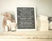 8x10 Hatmaker Motherhood Quote in Charcoal Gray