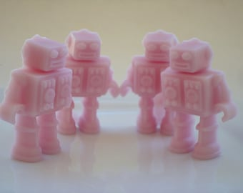 Robot Soap - Choose Your Scent Soap - Light Pink - Set of Four - Gift for Women Gamers, Geekery, Geeks, Nerds - Gift - Girl, Teenage Girl